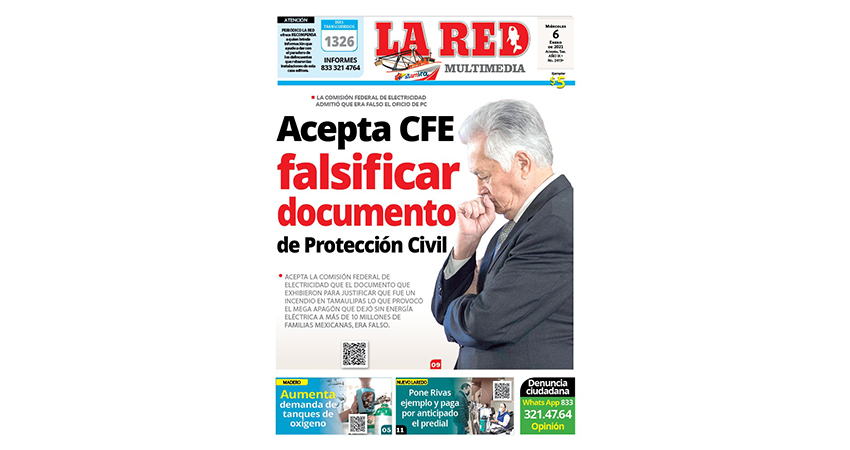 Acepta CFE falsificar documento de PC