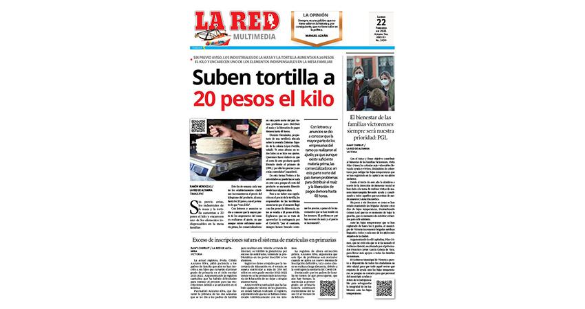 Suben tortilla a 20 pesos el kilo