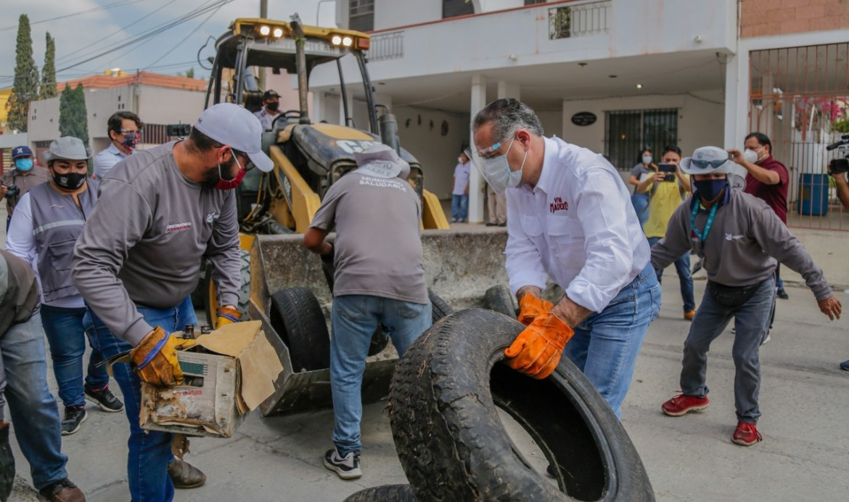 Refuerzan acciones de limpieza en Madero