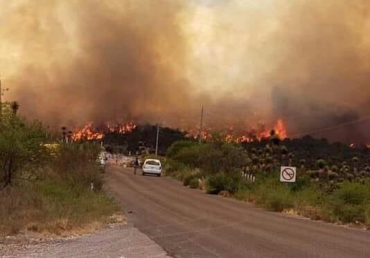 Continúa combate a incendio en Miquihuana