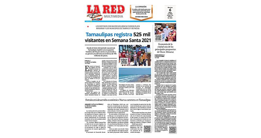 Tamaulipas registra 525 mil visitantes en Semana Santa 2021