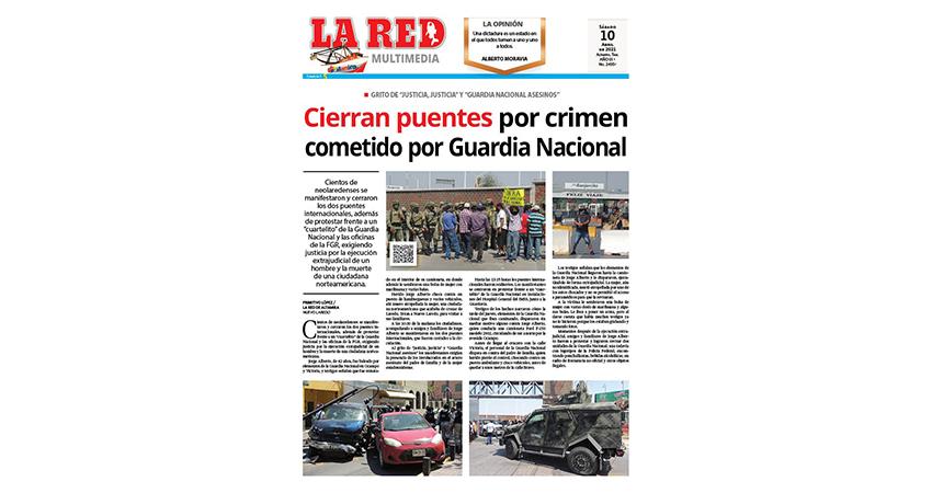 Cierran puentes por crimen cometido por Guardia Nacional