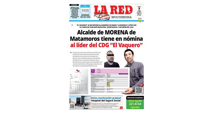 """Alcalde de MORENA de Matamoros tiene en nómina al líder del CDG """"El Vaquero"""""""