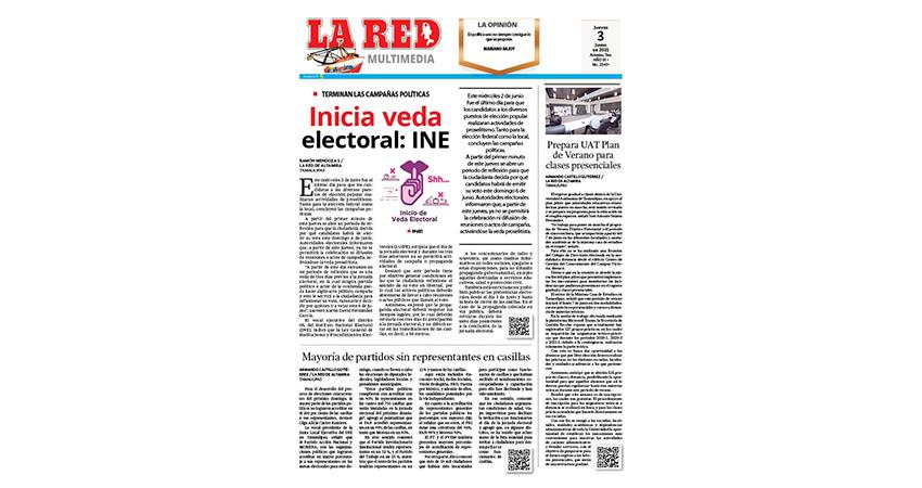 Inicia veda electoral: INE