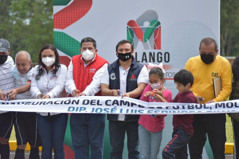 INAUGURARON CAMPO DEPORTIVO
