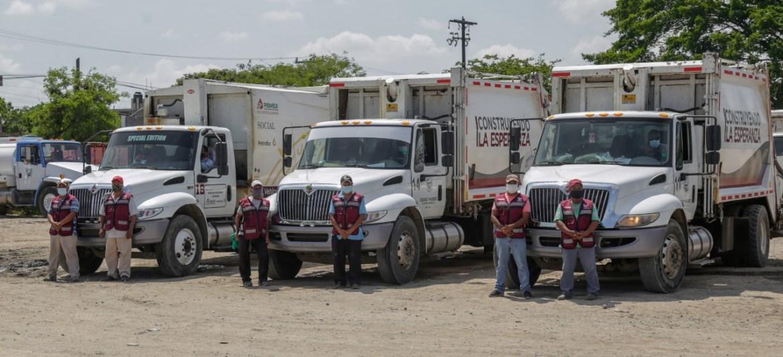 Anuncian la adquisición de seis camiones recolectores de basura