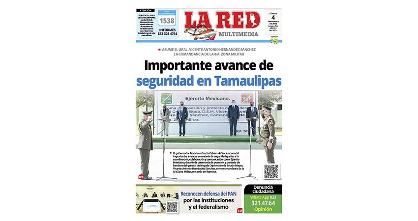 Importante avance de seguridad en Tamaulipas