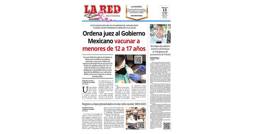 Ordena juez al Gobierno Mexicano vacunar a menores de 12 a 17 años