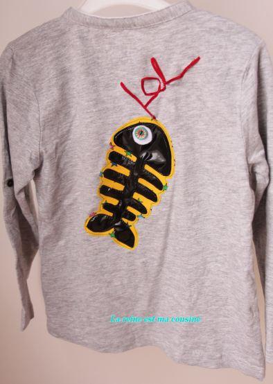 t-shirt poisson d'avril jaune