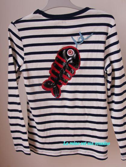 t-shirt poisson d'avril rouge
