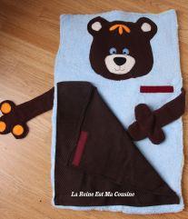 tapis de change bébé ourson