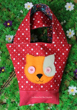sac chat rouge