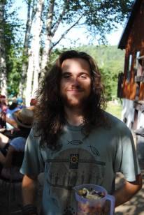 Pascal at the camp Air-Eau-Bois.