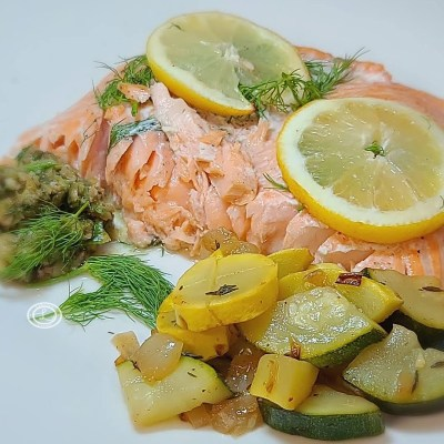 Keto Lemon Dill Salmon