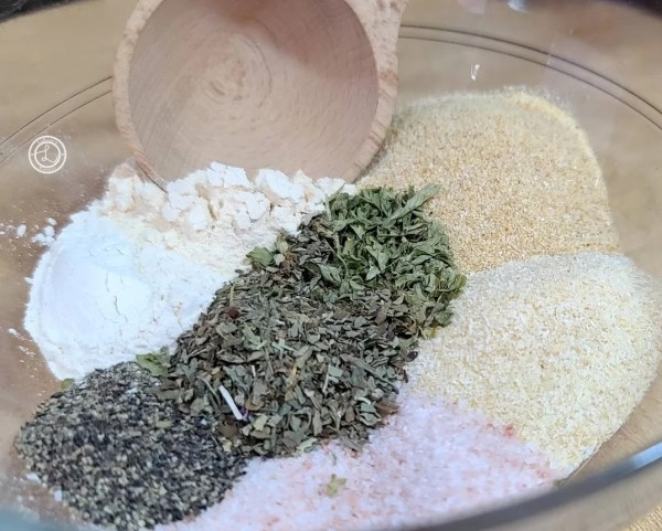 Garlicky Onion Seasoning before being mixed