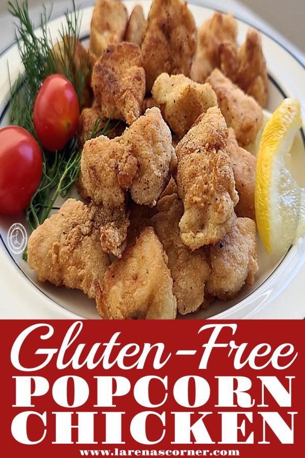 Gluten-Free Popcorn Chicken on a plate