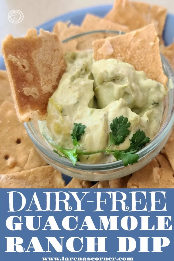 Guacamole Ranch Dipping Sauce with crackers