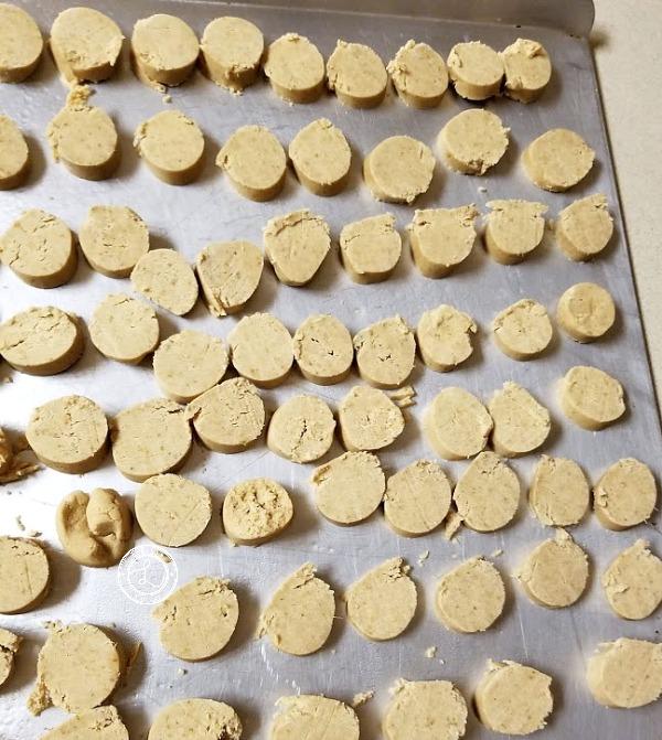 Gluten-Free Lime Meltaway Cookies on cookie sheet