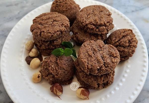 Stacks of Gluten-Free Chocolate Hazelnut Cookies