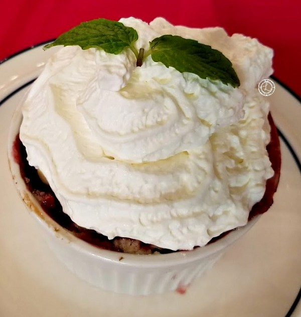 Topped with Whipped cream