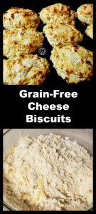 Grain-Free Cheese Biscuits that are quick and easy to make. These from scratch drop cheese biscuits are soft on the inside and flaky on the outside.