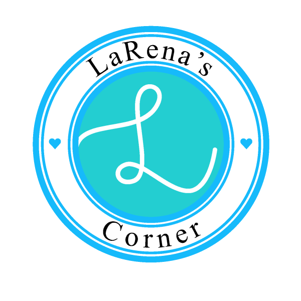 LaRena's Corner Logo with an L in the middle of a circle. My First blog post