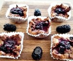 Baked muffins and some blackberries