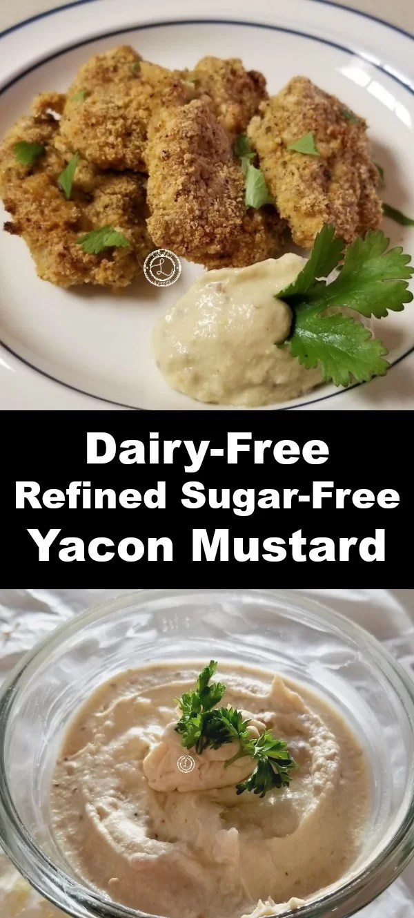 Top: Yacon Mustard with Gluten-Free Chicken Fingers. Bottom: Yacon Mustard