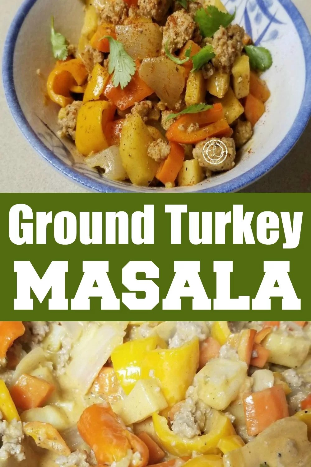 Turkey Masala in the pot and in a bowl decoated with parsley