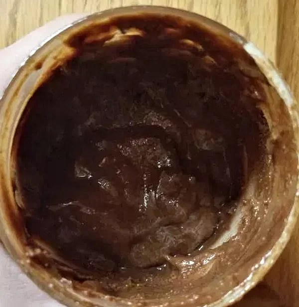What the butter looks like inside.