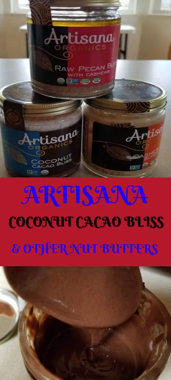 3 Jars Coconut Cacao bliss, Pecan Butter and Cashew Butter