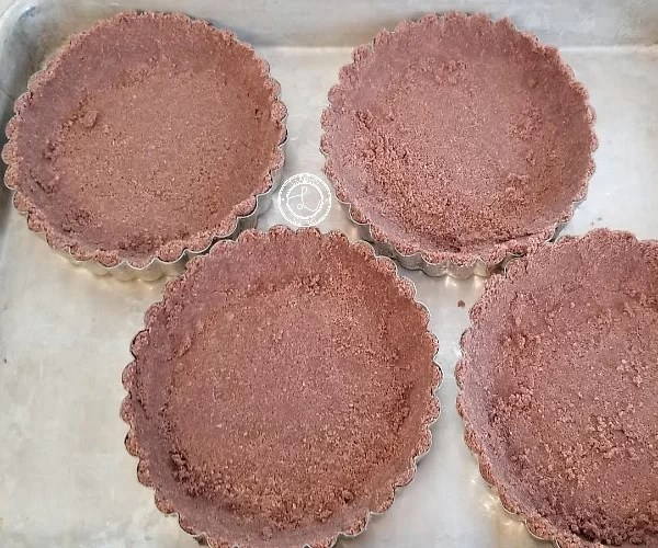 Tart crusts ready for the oven
