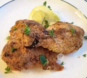 Baked Fried chicken leg and thigh