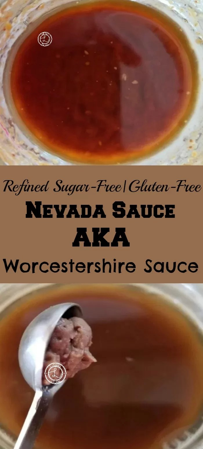 Collage: Top: Nevada Sauce. Bottom: Adding Anchovy Paste to Nevada Sauce Aka Worcestershire Sauce.