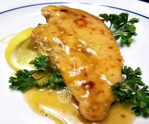 Cooked chicken with Orange Sesame Sauce