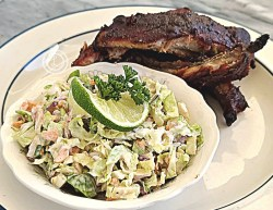 Slaw with baby back ribs