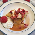 Oven Pancakes with Rhubarb Syrup