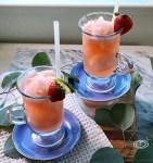 Slush in clear cups