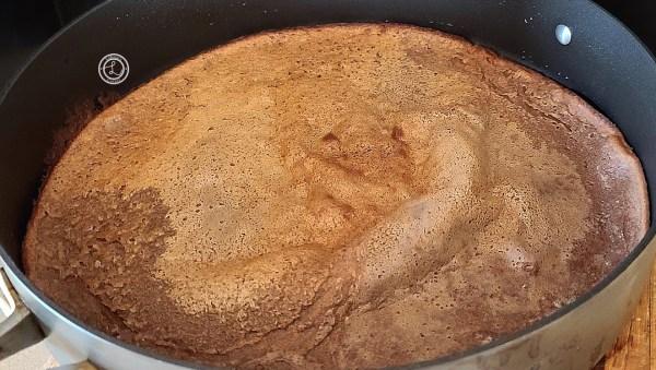 GGluten-Free Chocolate Dutch Pancake before adding toppings