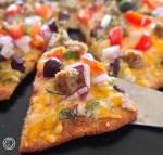 Gluten-Free Greek Meatball Pizza
