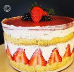 Decorated Gluten-Free Strawberry Fraisier Cake
