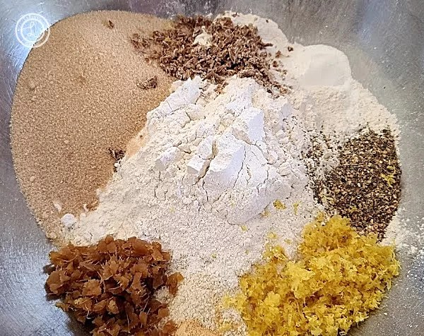 All the dry ingredients
