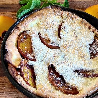 Gluten-Free German Peach Pancakes
