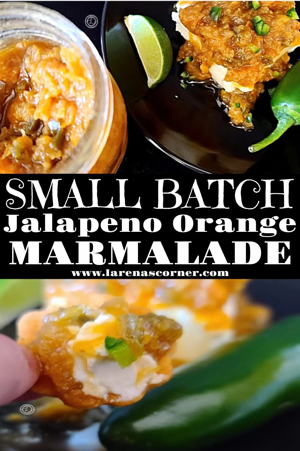 Two pictures of Small Batch Jalapeno Orange Marmalade
