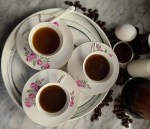A picture of three cups of Swedish Egg Coffee