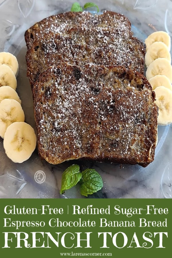 Gluten-Free Banana French Toast with slices of Bananas