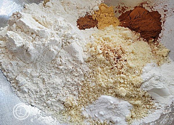 Gluten-Free Pumpkin Pancake Bars dry ingredients