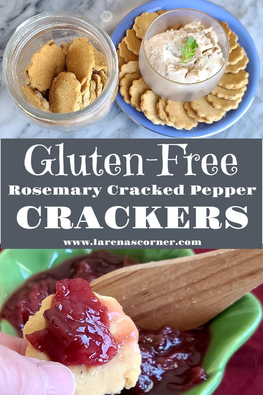 Rosemary Cracked Pepper Crackers