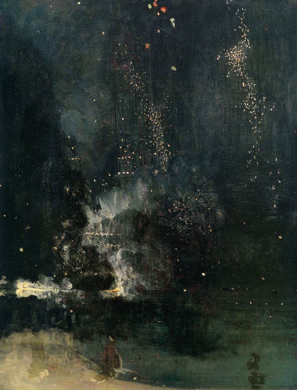 James McNeill Whistler, Nocturne in Black and Gold- The Failing Rocket, 1875, Oil on canvas, 60 x 47 cm, Phillips Collection, Washinton