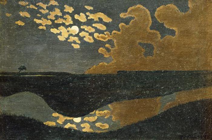 VALLOTTON Félix, Nuages à Romanel, 1900, Huile sur carton, 35 x 46 cm.jpg